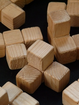 cube wood wooden toys