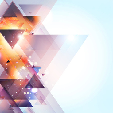 cubes triangle shiny background vector