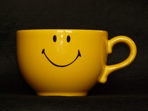 cup coffee cup smile