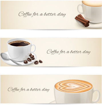 cup of coffee vector banner graphics