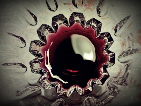 cup wine inside cup