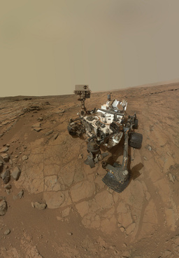 curiosity rovers self portrait at john klein drilling site