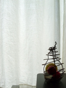 curtain and pear
