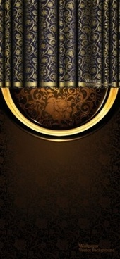 curtain brocade ornate vector background