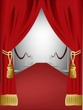 stage background elegant 3d design curtain icon