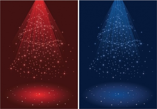 xmas backgrounds sparkling red blue dynamic lights effect