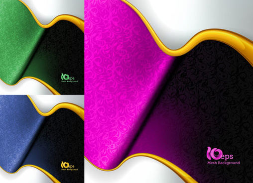 curve background vector graphic