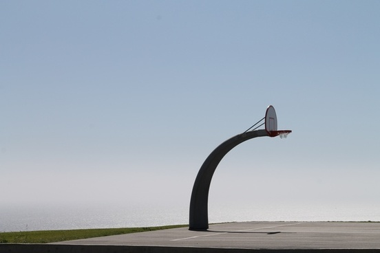 curved basketball hoop