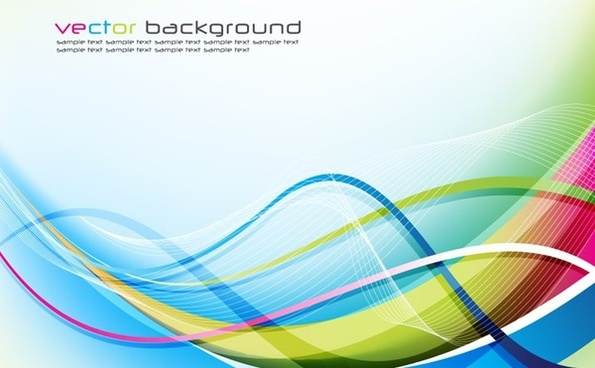 abstract background colorful curved waves design