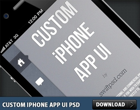 Custom iPhone App UI PSD