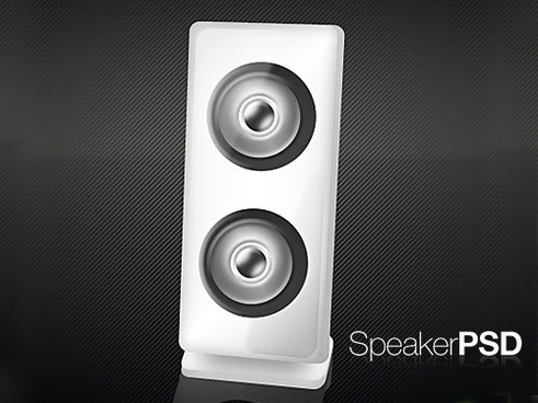 Customizable Speaker PSD Icon