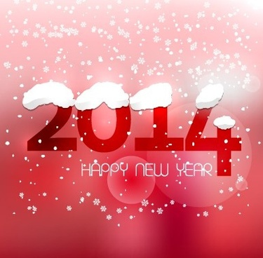 cute14 new year winter snowflake background