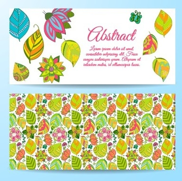 cute abstract elements banners vectors