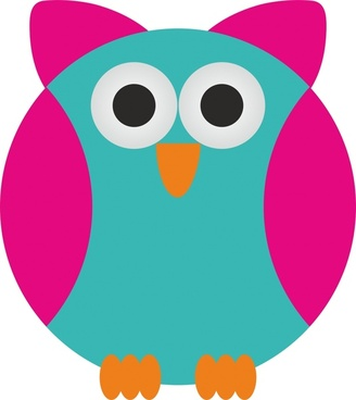cute abstract owl vector illustration with cartoon style