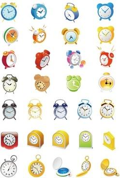 Cute Alarm Clock Vector Set