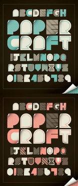 cute alphabet stickers vector