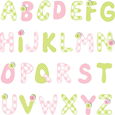 Cute alphabet letters designs free vector download 8185 free cute alphabet with button vector altavistaventures Image collections