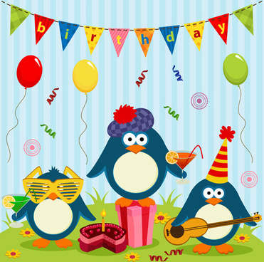 cute animals cards art vector