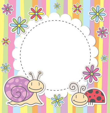 cute baby backgrounds vector