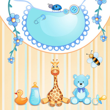 cute baby cards creative design graphics vector