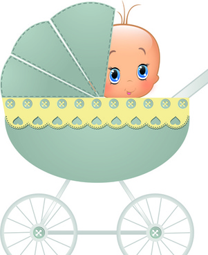 cute baby cards design vector set