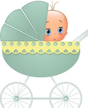 cute baby cards design vector set