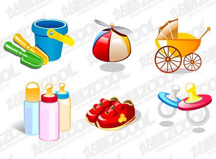 cute baby design elements vector graphic set