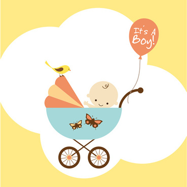 cute baby theme background design vector set