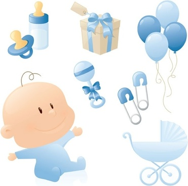 cute baby theme vector