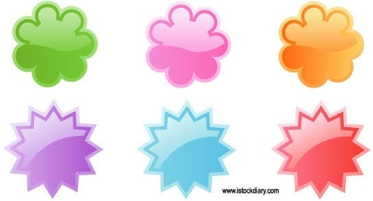 Cute badges vector
