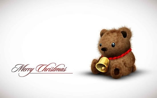 christmas banner cute teddy bear decor bright realistic