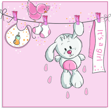 cute bears baby cards design vector