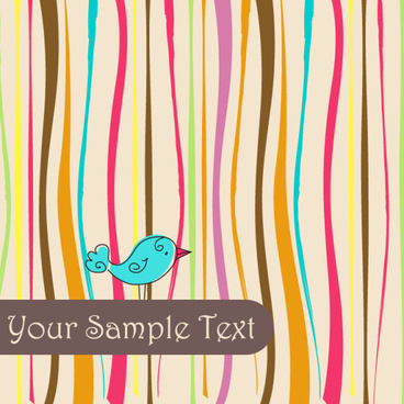 cute birds background vector