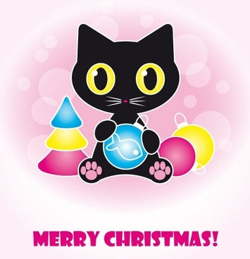 cute black cat clip art