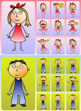 cute boys and girls clip art