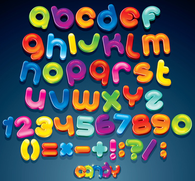 cute cartoon alphabet letter and digital vector art