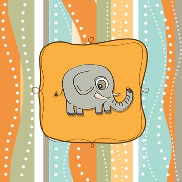 cute cartoon baby cards vector graphics