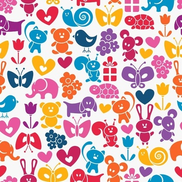 cute cartoon background 02 vector