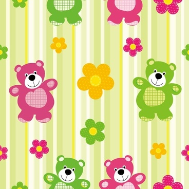 cute cartoon background 03 vector
