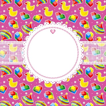 cute cartoon background 05 vector