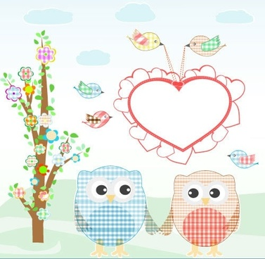 cute cartoon bird illustrator vector