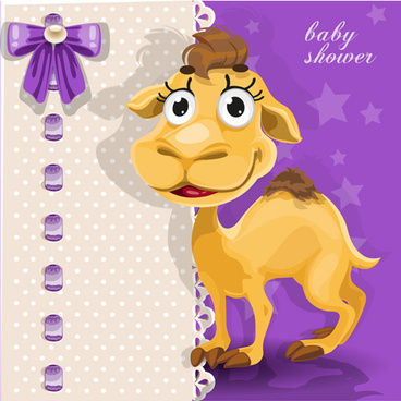 cute cartoon camel vector set