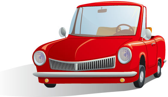 cute cartoon car free vector