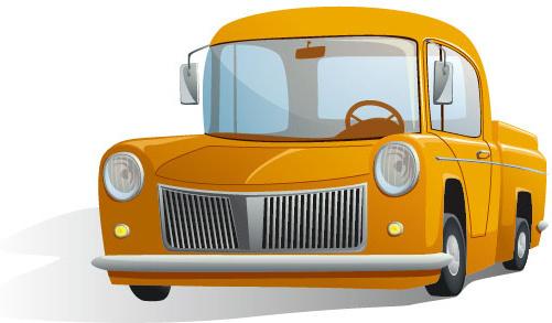 cute cartoon car free vector