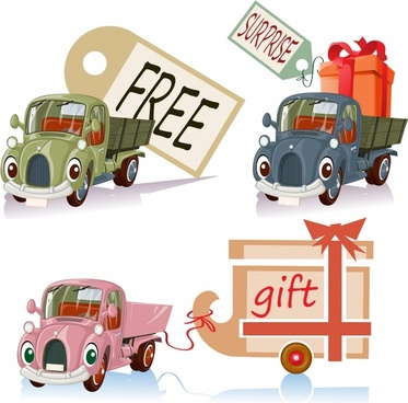 cute cartoon car toy car vector