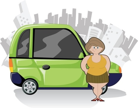 cute cartoon characters and car 05 vector