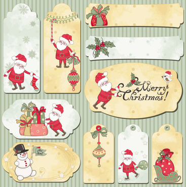 cute cartoon christmas ornaments vector graphics
