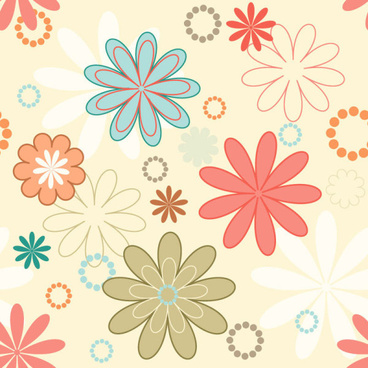 cute cartoon decorative pattern background vector