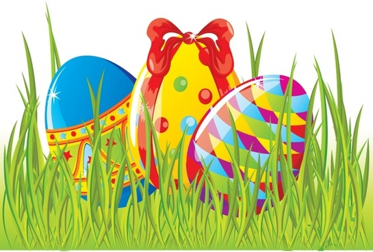 cute cartoon easter elements vector