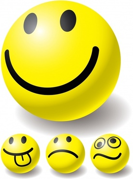 emoticon templates cute yellow circles design